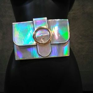 Handbags - Belt Detail Hologram Fanny Pack